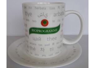 Чаша за чай с лого Биопрограма